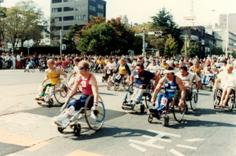 第1回大分国際車いすマラソンスタート